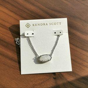 Kendra Scott Elisa drusy silver necklace